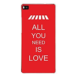 """Disagu Design Protective Case para Huawei P8 Funda Cover """"ALL YOU NEED IS LOVE"""""""