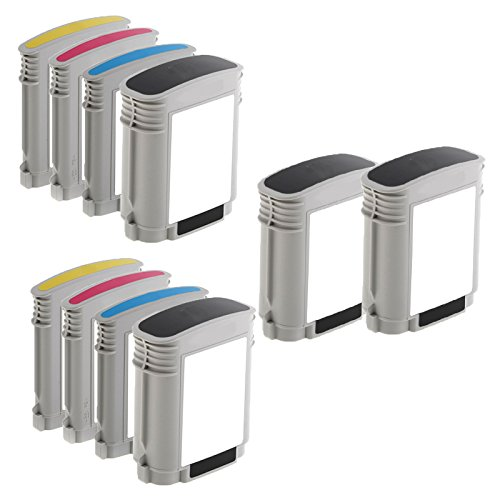 10 Inkfirst® Ink Cartridges (HP 940XL) Compatible Remanufactured for HP 940 940XL Black, Cyan, Magenta, Yellow (High Capacity) (2 Set + 2 Black) OfficeJet Pro 8500A 8000 8500 C4906AN, C4907AN, C4908AN, C4909AN Ink First IF-HP940COMBO-4BK/6CLR(B)