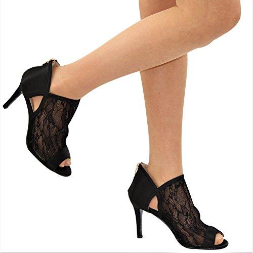 de Noir Femme Salon Danse Tinsel vZqw4T5