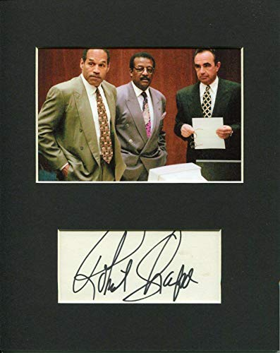 Robert Shapiro Lawyer Rare Signed Autograph Photo Display With O. J. Simpson - Autographed NFL ()