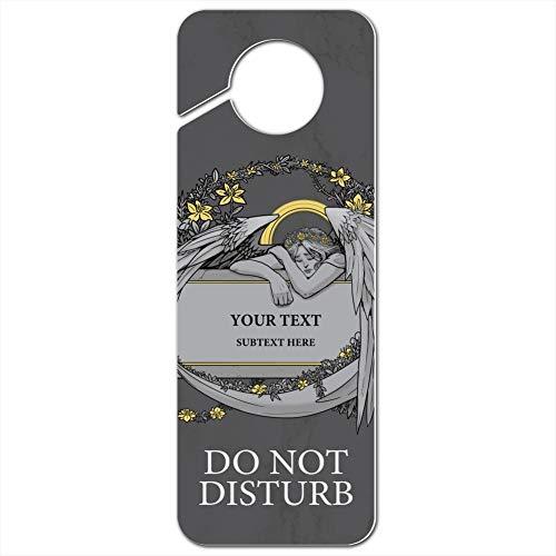 GRAPHICS & MORE Stone Angel Memorial 2 Lines Personalized Custom Do Not Disturb Plastic Door Knob Hanger Sign