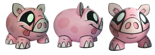 Joe Ledbetter Pink Piggy Bank Designer Vinyl Figure