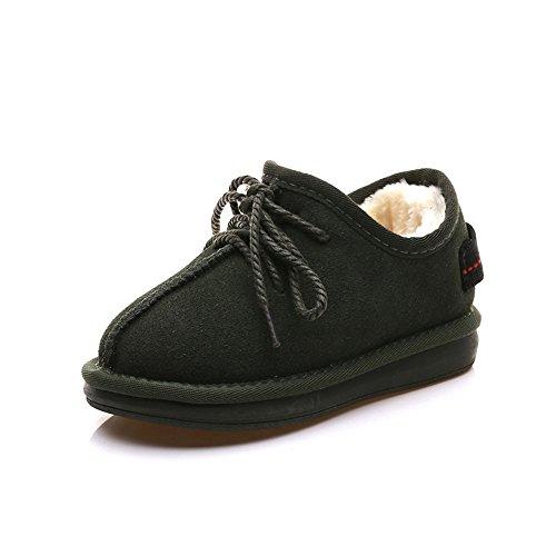 Boots caldo pizzo imbottita plus bassa di scarpe velluto Snow ArmyGreen cotone Inverno gwqUECW