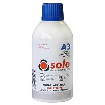 Botella de humo sintético 250 ml para comprobador de humos SOLO 330/332. Aerosol humo sintético- Comprobador de detectores de humo SOLO A3: Amazon.es: ...