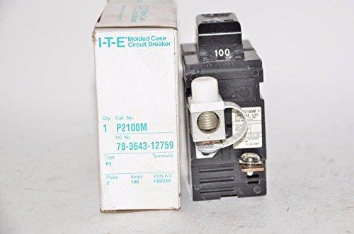(P2100 Siemens Pushmatic Bulldog ITE- P Frame, 2 Pole, 240 Volt, 100 Amp, Molded Case Circuit Breaker Breaker 100A 2P)