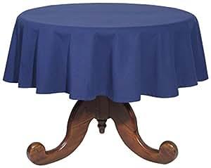 Now Designs 60-Inch Round Spectrum Tablecloth, Indigo