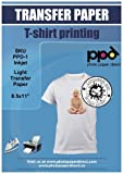 PPD Inkjet Iron-On White and Light Color T Shirt