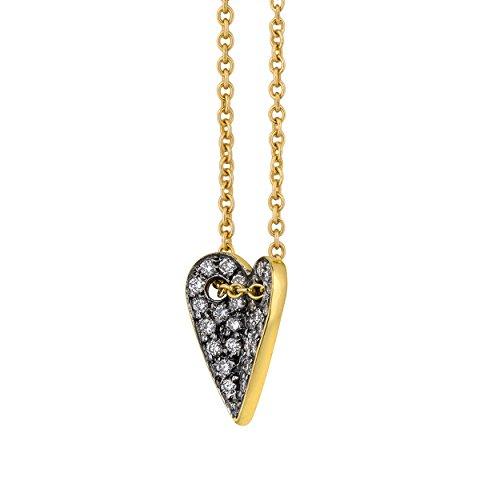 ELENA VOTSI femme  18carats (750/1000)  Or jaune|#Gold Rond   Blanc Synthetischer Diamant