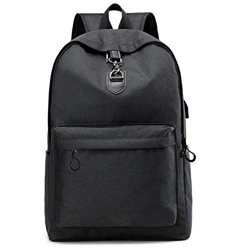 Stuo Waterproof Laptop Backpack USB Charging Port Lightweight Business Travel College Rucksack Bag Computer Backpack Men Women Student Black by Stuo (Image #6)