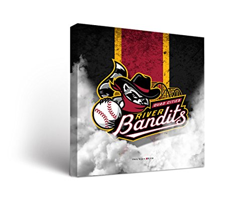 Quad City River Bandits MiLB Canvas Wall Art Vintage Design (12x12)