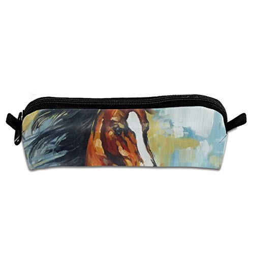 Wodehous Adonis Horse Pastel Painting Abstract Animal Canvas Cosmetic Pen Pencil Stationery Pouch Bag Case