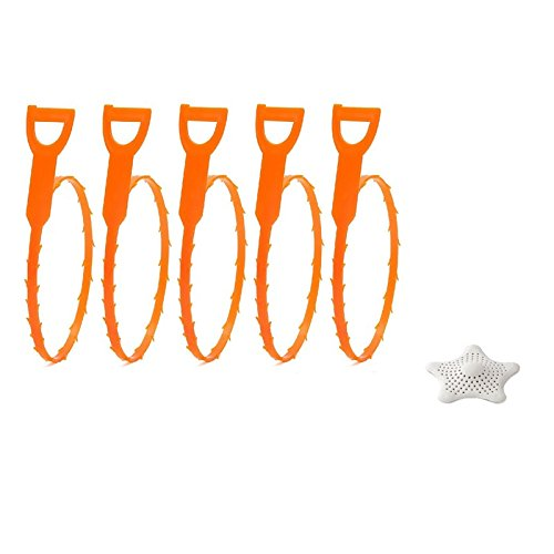 Tovantoe Drain Snake Silicone Sink, Orange