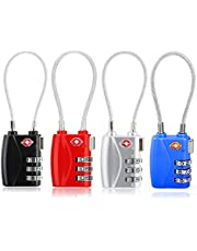 TSA Luggage Lock, Combination Luggage Cable Travel Gym Bag Locks Set for Suitcase Luggage Tags