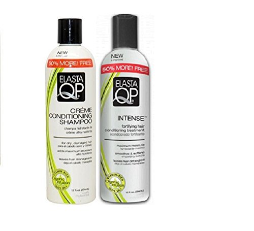 Elasta QP Double Set (Creme Conditioning Shampoo, Intense Conditioning Treatment)