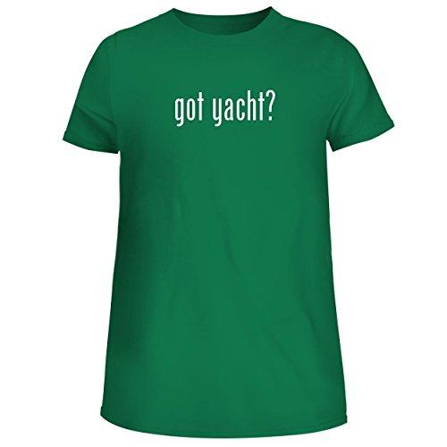 BH Cool Designs got Yacht? - Cute Women's Junior Graphic Tee, Green, Small ()