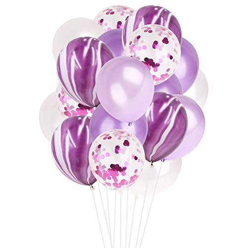 20Pcs 12Inch Colorful Multi Air Balloons Happy Birthday Party Latex Balloon Decorations Wedding Festival Ballon Party Supplies Purple -