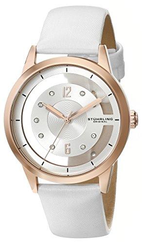 Stuhrling-Original-Winchester-946L-946L02-Reloj-de-pulsera-Cuarzo-Mujer-correa-deCuero-Blanco