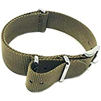 NATO20.23-3 Nato Watch Strap 20mm Stainless Steel Buckle 283mm Extra Long XL/UK