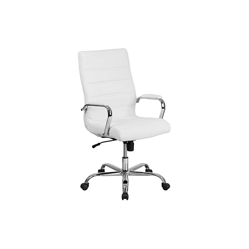 Flash Furniture High Back White Leather