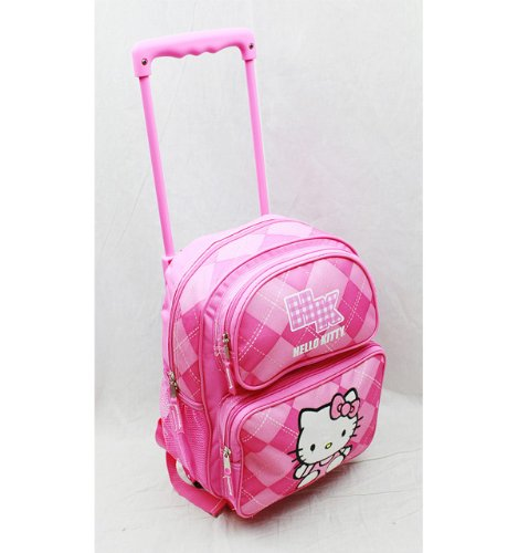 Hello Kitty Arglye Small Rolling Backpack - Pink