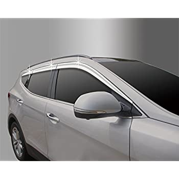Autoclover Smoke Window Rain Sun Door Visor 6P For Chevrolet Malibu 2016 2017