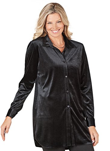 Velour Big Shirt - 1