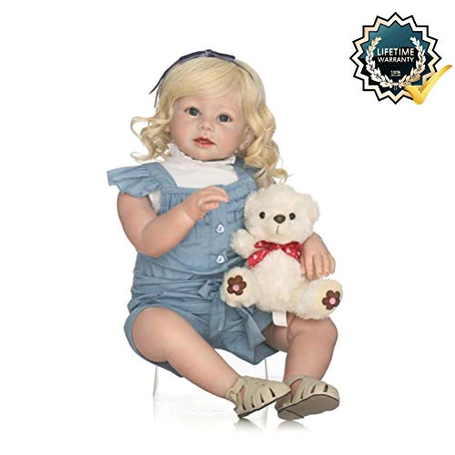 Binxing Toys 28in Reborn Toddler 70cm Realistic Baby Dolls Silicone Vinyl Head Limbs Weighted Body Real Bebe Feel Lifelike Kids' Birthday Gifts (3)