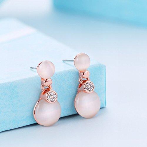 MOMO une Paire de Dames Mode à la Mode Mode Simple / Anti-allergique / Diamants / Pierres Précieuses / Petite Et Exquise