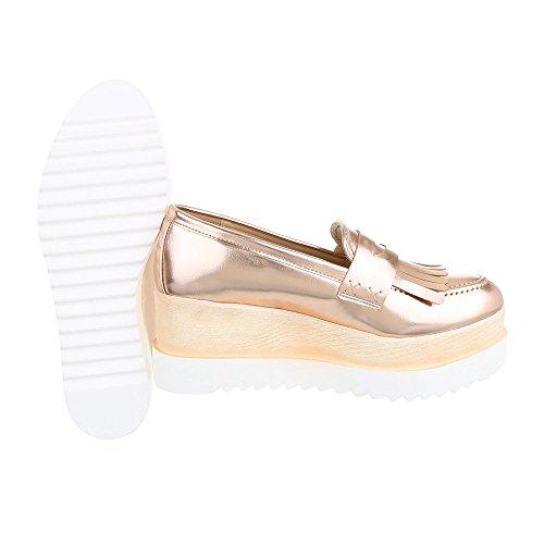 Ital-Design - Tobillo bajo Mujer Rosa Gold 371-P
