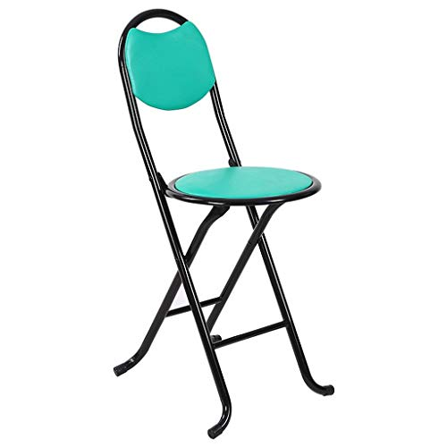 - MCLY Shower Seats, Green PU Leather Stool Portable Folding Round Shower Stool/Elderly/Disabled/Pregnant Women/Home Simple Stool