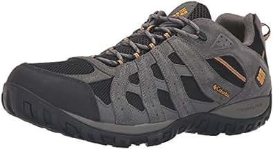 Columbia Men's Redmond Waterproof Hiking Shoe, Black, Squash, 7 D US