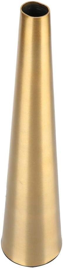 KEYREN Forma conica Scrivania in Metallo Vaso Decorazione Portafiori Rosa Coppa Soggiorno Studio Artigianato Moderno Stile Minimalista Leggero Opaco Oro Lustro Metallico