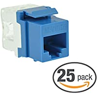Mediabridge Cat5e Keystone Jack (Blue) - Punch-Down RJ45 Insert for Keystone Wall Plate - 25 Pack (Part# 51J-C5-BLU-25PK )