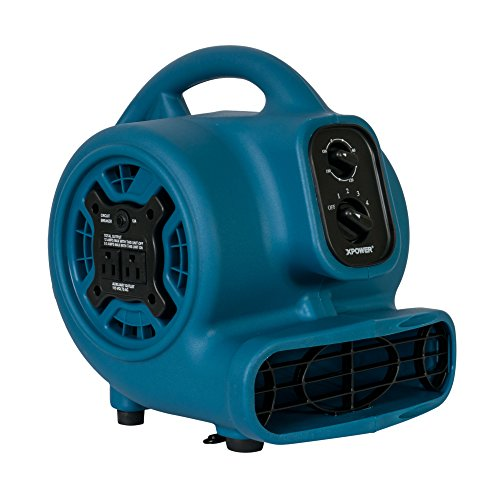 XPOWER Freshen Aire P-260AT 1/5 HP Mini Scented Air Mover Fan Dryer with Power Outlets & Timer by XPOWER