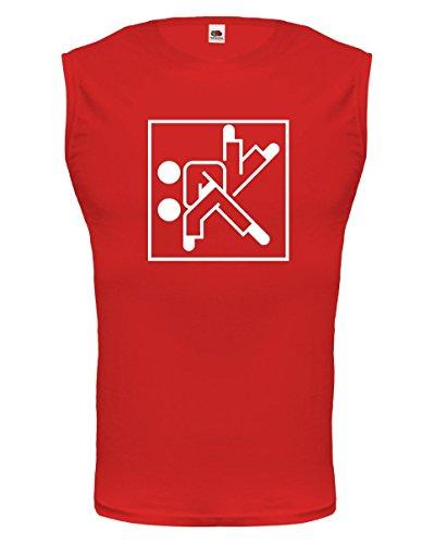 buXsbaum Tank Top Judo-Pictogram-M-Red-White