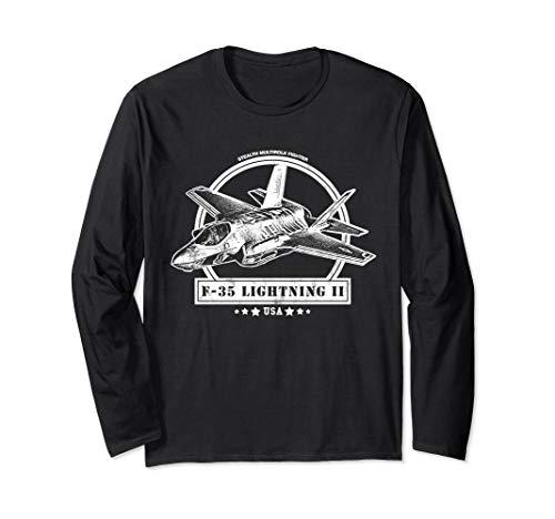 F-35 Lightning II Aircraft Long Sleeve T-Shirt