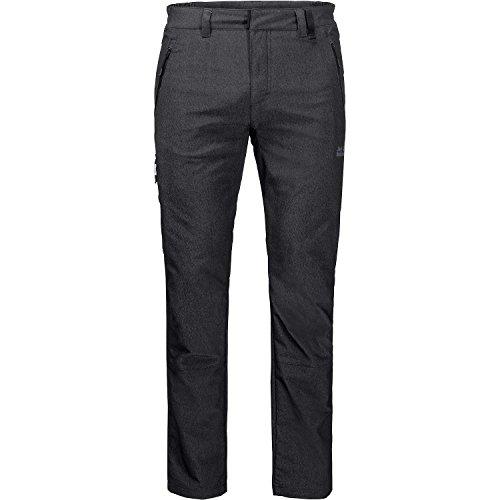 Jack Wolfskin Men's Activate Sky Softshell Hiking Pants, Black, Size106(US-M-35/35)