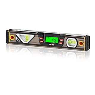 PREXISO Digital Level, 12-inch, Angle Slope with LCD Display, 360° Electronic Bubble Inclinometer, Vertical & Horizontal Spirit Bubble for Construction Carpenter Craftsman Renovation Home Professional