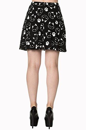 Banned Purrfect Kitty Skater Skirt - Black / S