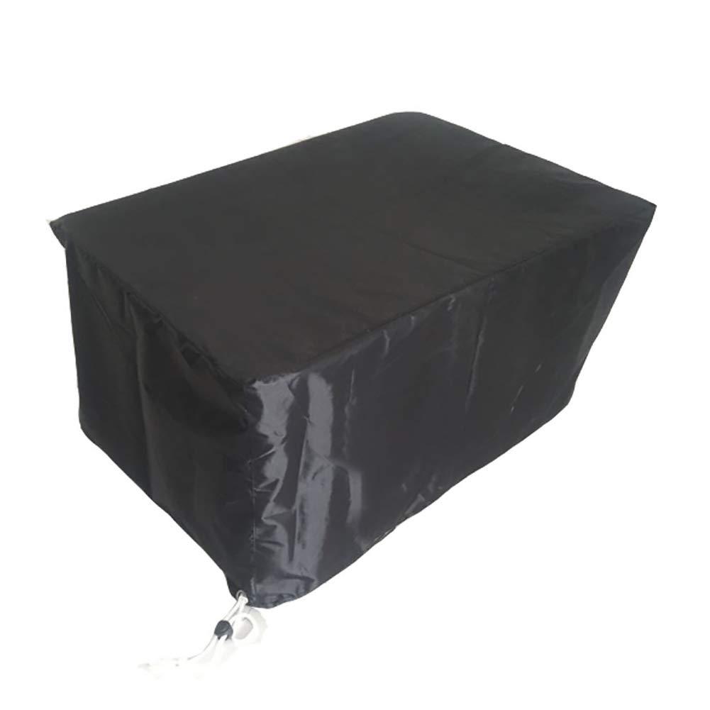Copertura Esterna per Mobili da Giardino Nera Copertura Impermeabile per Tavolo E Sedia Antipioggia (Dimensioni   123×123×74CM)