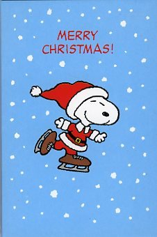 peanuts snoopy pack of 6 christmas cards