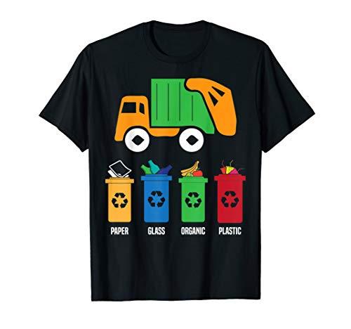 Garbage Truck Halloween Costume (Garbage Recycling Trash Truck Kid Boy Toddler Gift T Shirt)