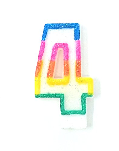 200 COLORFUL # 4 BIRTHDAY CAKE CANDLE FOR PARTY CELEBRATION WHOLESALE BULK LOT