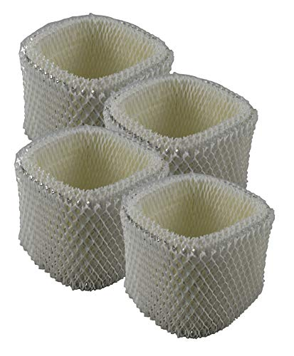 Air Filter Factory 4-Pack Compatible Replacement for Holmes HWF62, HWF62D, HWF-62, H62, H-62 Humidifier Filter