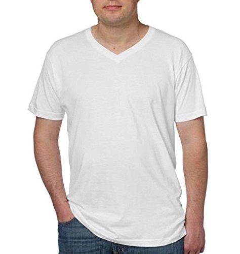 (Kirkland Signature Men's V-Neck Pima Cotton Tee 4-pack White (Medium))