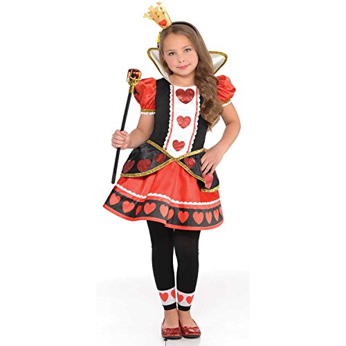 Amscan Girls Christys Dress Up Queen of Hearts Fancy Dress Costume 6-8 Years