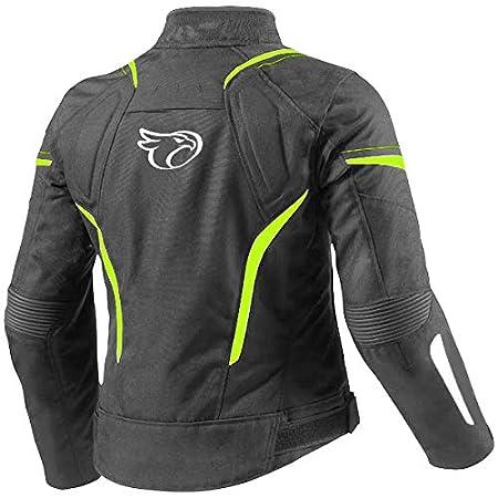 2XL JET Chaqueta Moto Mujer Textil Impermeable con Armadura ES 44-46 , Fluro