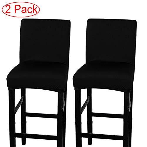 LJNGG 2 Pack Chair Cover Slipcover Counter Stool Covers Dining Room Kitchen Bar Stool Cafe Furniture Chair Seat Cover Stretch Protectors Only Chair - Dining Chairs Stools Bar