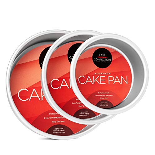(Last Confection 3-Piece Round Cake Pan Set - Includes 4