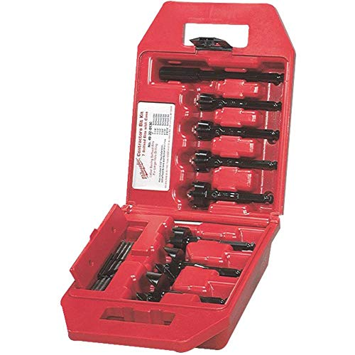 Milwaukee 49-22-0130 Contractor's Kit 7 Bit 1-Inch to 2 9/16-Inch Selfeed Drill Bit Assortment with 5 1/2-Inch Extension and Plastic Carrying Case (Extension Milwaukee)